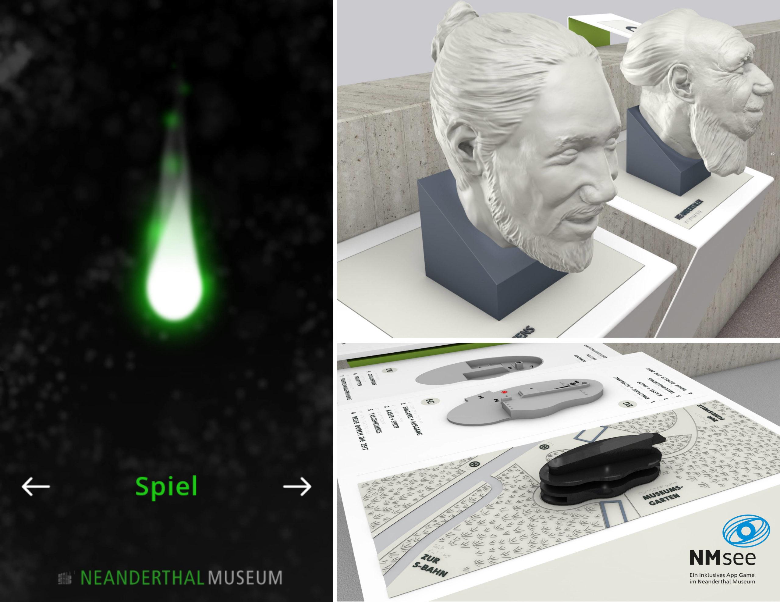 3D-Drucke Neanderthaler und Neanderthal Museum