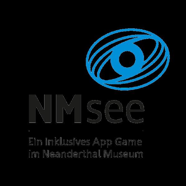 Logo NMsee - inklusives App Game im Neanderthal Museum